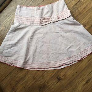 Anthropologie Elevenses Bow Skirt